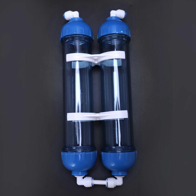 Image 2 - Water Filter 2Pcs T33 Cartridge Housing Diy T33 Shell Filter Bottle 4Pcs Fittings Water Purifier For Reverse Osmosis SystemWater Filter Cartridges   -