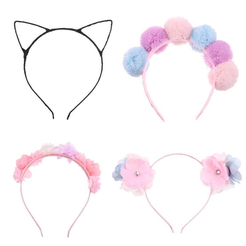 Baby Party Props Black Cat Ears Girl   Headwear   Lady Stylish Headband Hair Baby Headband Accessories for Children Hoop