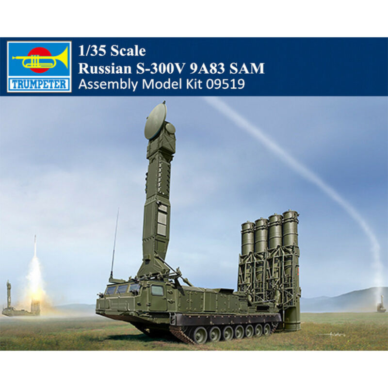 Trumpeter 09519 1 35 Russian Army S 300V 9A83 SAM Missile Launcher Tank Vehicle