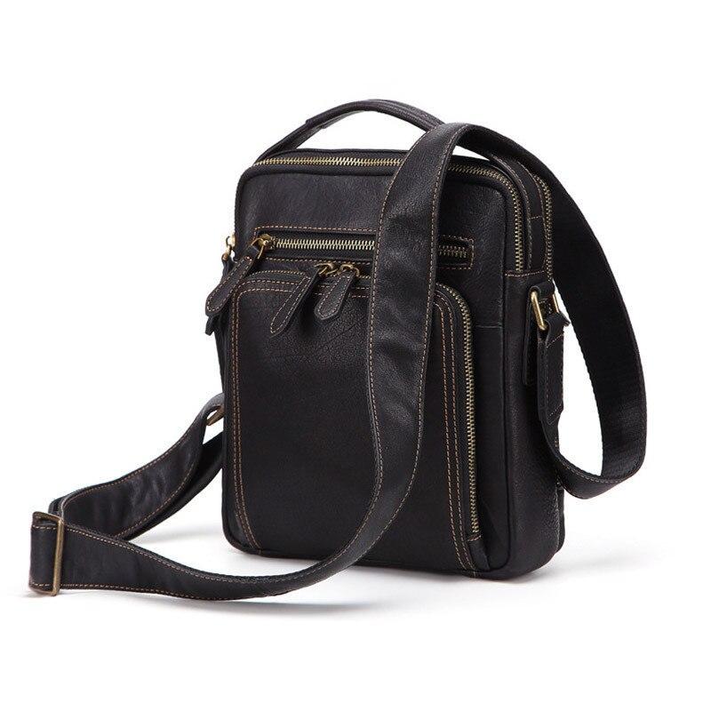 New Top Cowhide Male Shoulder Bag Restore Leisure  Wear-resisting Crossbody-bag Men Genuine Leather Handbag PR078152New Top Cowhide Male Shoulder Bag Restore Leisure  Wear-resisting Crossbody-bag Men Genuine Leather Handbag PR078152