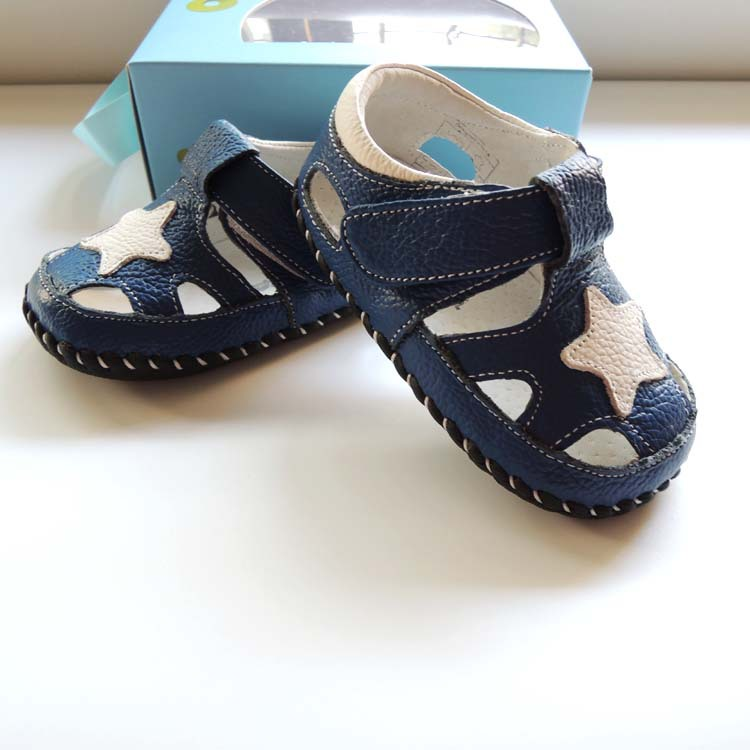 OMN Brand New Genuine Leather Baby Boys Summer Shoes Soft Sole Infant Toddler Shoes First Walkers Breathable Bebe Clogs