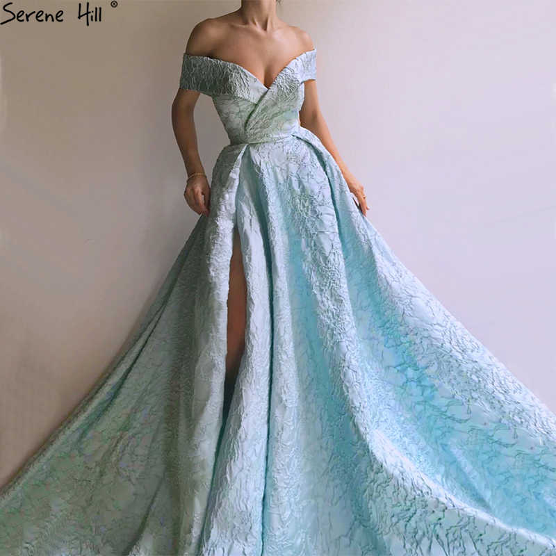 72bcd4895a New Designer Blue Off Shoulder Evening Gowns Sleeveless Sexy Fashion Formal  Evening Gowns Serene Hill LA6484
