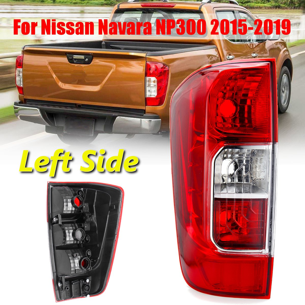 Car Rear Tail Light Red Wire Left/Right for Nissan Navara NP300 2015-2019 Frontier 2018-2019 without Bulbs Wire Car Light AssemCar Rear Tail Light Red Wire Left/Right for Nissan Navara NP300 2015-2019 Frontier 2018-2019 without Bulbs Wire Car Light Assem