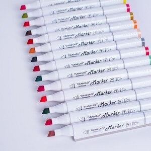 Image 4 - CHENYU 168 Farben Kunst Marker Alkohol Auf Wasserbasis Stift Dual Kopf Skizze Marker Pinsel Stift Für Zeichnung Manga Design Übersee Lager