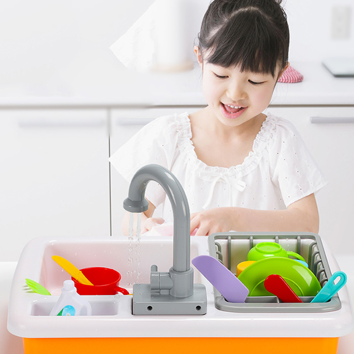 Educational Dishwashing Set DIY Kitchen Toys Automatic Circulation Water Toy Pretend Play Toys Learning Toys Gifts for KidsEducational Dishwashing Set DIY Kitchen Toys Automatic Circulation Water Toy Pretend Play Toys Learning Toys Gifts for Kids