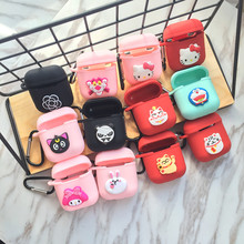 Cute Cartoon DIY Silicone Case for Apple Airpods Accessories for i10 TWS Bluetooth Earphone Protective Cover Bag Anti-lost Strap