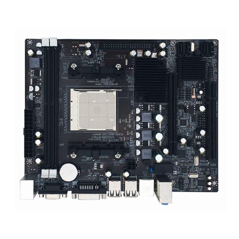 Jia Huayu A780 Pratique ordinateur de bureau carte mère d'ordinateur Carte Mère AM2 AM3 Soutient DDR2 Mémoire