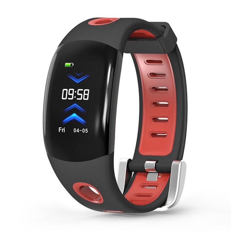 Banda Intelligente Dm11 3d Dinamico Ui Inseguitore Di Fitness Braccialetto Del Cuore Rate Monitor Wristband Ip68 Impermeabile Per Ios Android (nero Rosso)