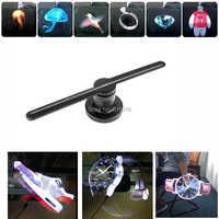 Ventilador de holograma 3D con pantalla LED de 43cm resolución 450*224 versión TF ventilador holográfico 3D para publicidad