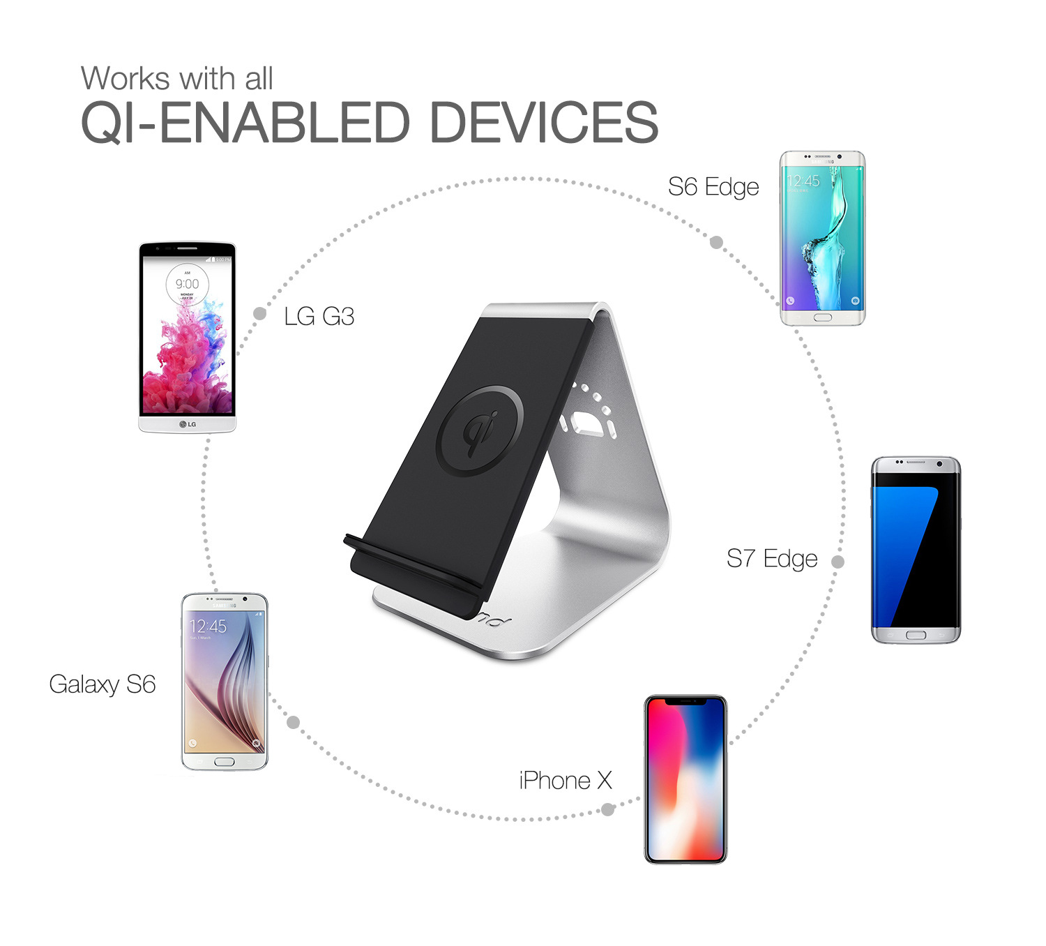 Of Model of Illicit of Mobile Phone Charger Vertical Wireless Fast Charge 10W Mobile Phone General Wireless Charging Support Can