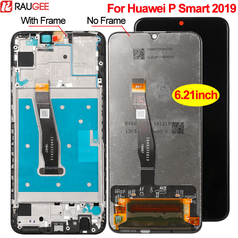 Display For Huawei P Smart 2019 LCD Display with Frame Touch Screen Digitizer Panel Replacement For