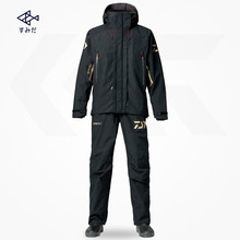 цена на Drop Shipping Daiwa Men Waterproof Hooded Raincoat Jacket Outdoor Sportswear Suit Hunting Fishing Clothing Sets