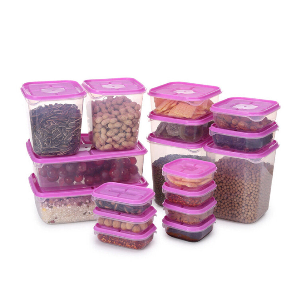 US $3.69 26% OFF 17 Pieces Multifunction Plastic Lunch Box Set Green rose  Kitchen Food Storage Sets Oven Safe Food Containers-in Bottles,Jars & Boxes  ...