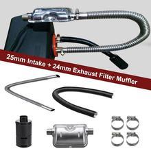 8 PCS Universal Auto Verbrauchs Zubehör Air Diesel Heizung 24mm Abgasschalldämpfer + 25mm Filter Zubehör Für Luft diesel Heizung