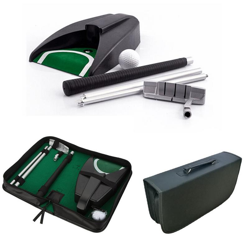 Portable Golf Putter Putting Trainer Set Indoor Training Equipment Golfs Ball Holder Training Aids Tool with Carry Case p40