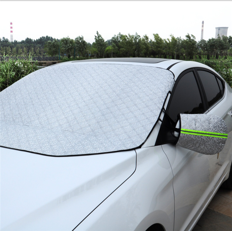 Car front windshield clothing half cover winter thickening snow anti-frost antifreeze half body car cover windshield set