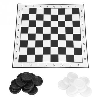 Przenośne plastikowe międzynarodowe warcaby składane deska gra w szachy dla imprez rodzinnych tanie i dobre opinie VBESTLIFE Checkers Set Z tworzywa sztucznego Plastic 5 lat Szachy warcaby Inne