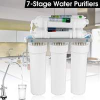 7 Stage Water Filter System with Faucet Valve Water Pipe Home Kitchen Purifier Water Filters System With Faucet Valve Water Pipe