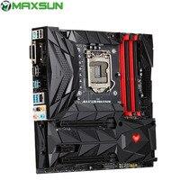MAXSUN B360W MATX Motherboard Intel B360 Chipset LGA1151 USB3.1 Dual Channel DDR4 HAMI DVI DP Type C LED Backlight
