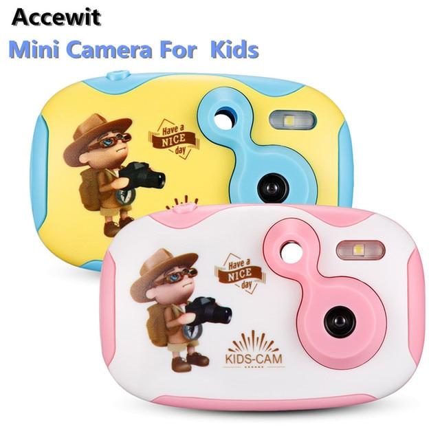Accewit Mini Camera Kids Digital Camera 1080P Mini Cute Kids Digital Camera with 1.44 inch Full Color Display For Kids Gift