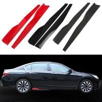 2PCs Universal Car Body Styling Side Skirt Rocker Splitters Diffuser Winglet Wings Bumper Kit Car Skirt Rocker 2pcs