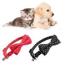 2 шт. ошейник для домашних животных в горошек с бантом колокольчик в форме кошки пряжка