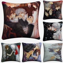 Vampire Knight Sexy Anime Art Decorative Cotton Linen Cushion Cover 45x45cm For Sofa Chair Pillow Case Home Decor Almofada