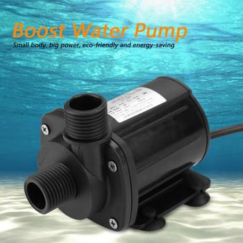 Mini 5M Hydraulic Head DC Brushless Boost Water Pump 12V Mini Water Pump Boost Water Pump Brand New mini high hydraulic head bomba agua dc brushless submersible water pump 12v 20 to 90 degree pump