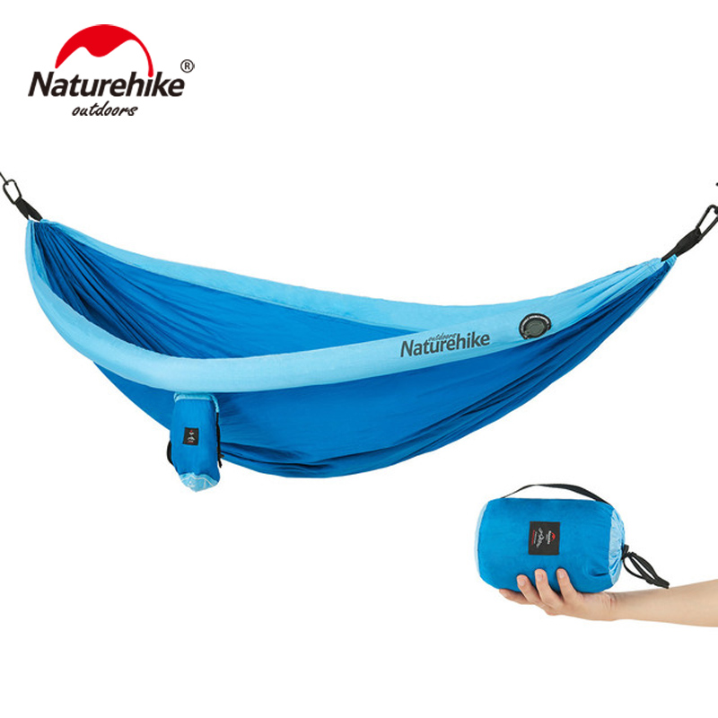 NatureHike Portable Hammock High Strength Outdoor Travel Camping Bed Ultralight Inflatable Hammock Tent