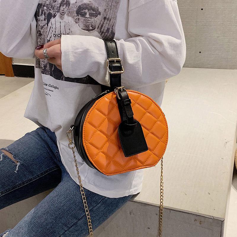 Spalla Modo Bag Handbgs Donna Nuovo 2019 Borsa Cerchio Flap Black Tracolla Tote Singola orange Catena Borse A Di Femminile Portatile Piccolo Con white Modello qwxPwt8R