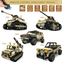 Armored Union military Technic Series 2.4G Remote Control Car DIY Building Block Bricks Car Educational Toys For Children Gift technic series remote control engineering car building block enlighten diy toy compatible legoinglys educational toy 638pcs