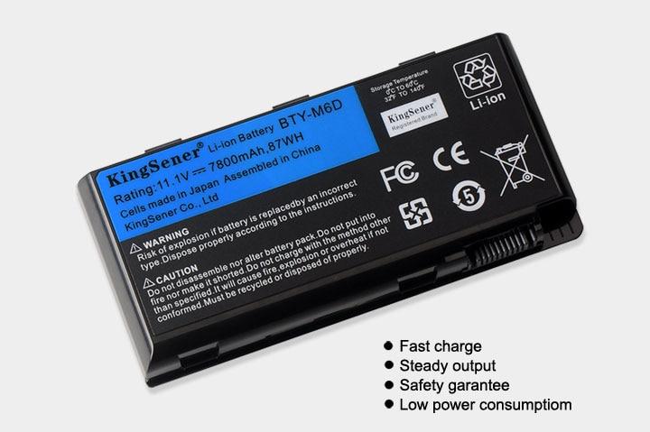 11.1 V 7800 mAh Nouvelle BTY-M6D batterie d'ordinateur portable pour MSI GT60 GT70 GX780R GX680 GX780 GT780R GT660R GT663R GX660 GT680R GT783R 9 CELLULES - 3