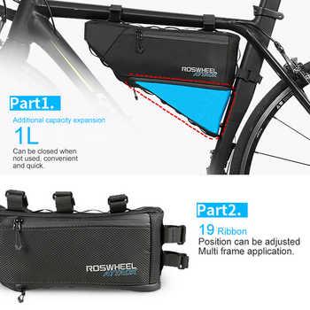 LGFM-ROSWHEEL ATTACK Series 121371 Waterproof Bag Top Front Frame Tube Triangle-Bag