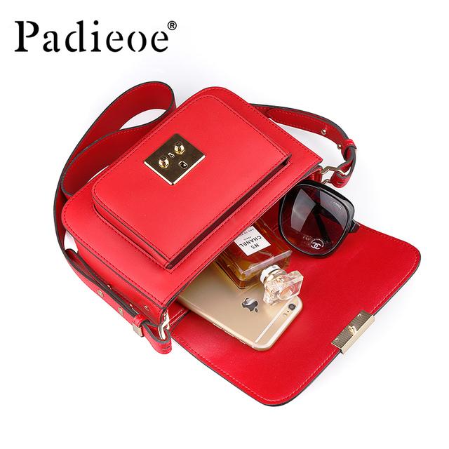 Padieoe 2019 new bags for women messenger bag leather luxury shoulder bag  evening bag fashion crossbody purse vintage girl lady