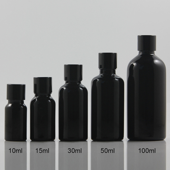wholesale 50pcs 10ml shiny black dropper glass bottle with black metal cap,dropper glass essential oil 10ml cosmetic container