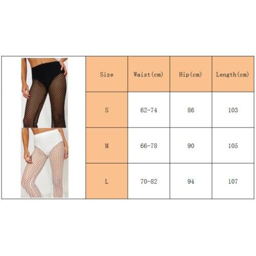 6aa7d25e3fc01 Womens Beach Fishnet Mesh Wide Leg Pants Bikini Cover Up Flared Trousers-in  Pants & Capris from Women's Clothing on Aliexpress.com | Alibaba Group