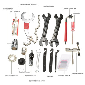 Image 4 - Lixada 전문 자전거 도구 유니버설 홈 야외 다기능 목적 자전거 자전거 수리 도구 키트 세트 사이클링 도구 세트