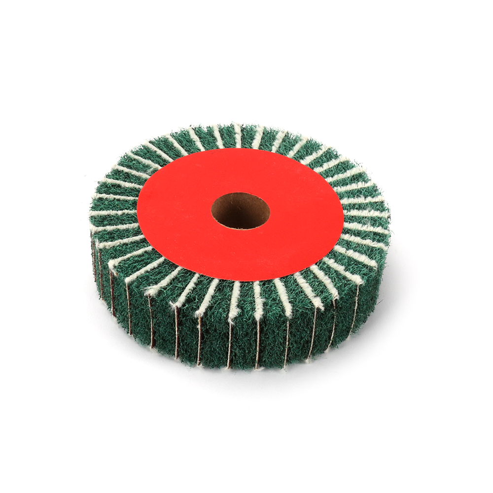 100 - 300mm Non-woven Scouring Pad Grinding Wheel Flap Mop Polishing Wheel Disc 180Grit 25mm Thickness High Quality