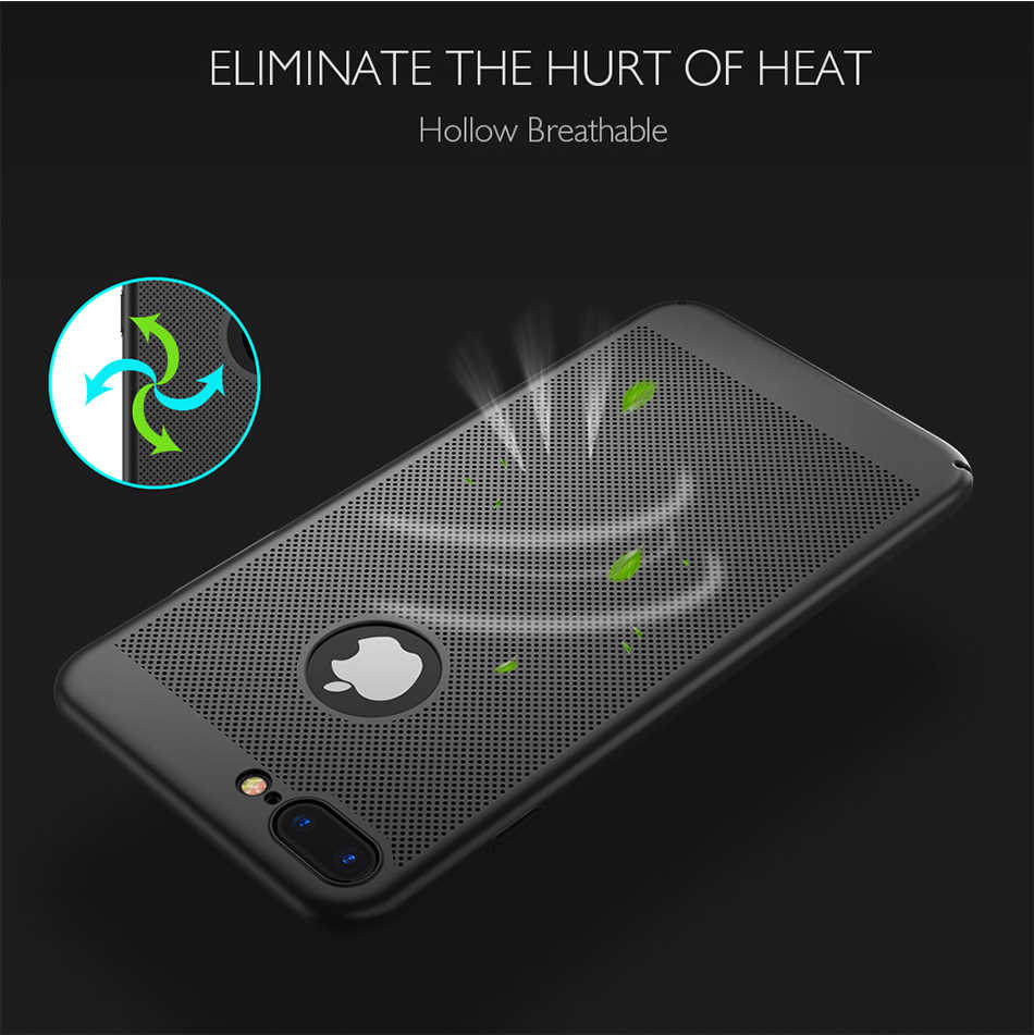 방열 케이스 iPhone X XR XS MAX 6 6S 7 8 Plus 5 5S SE 통기성 전화 커버 iPhone 11 Pro Max Protective Shell