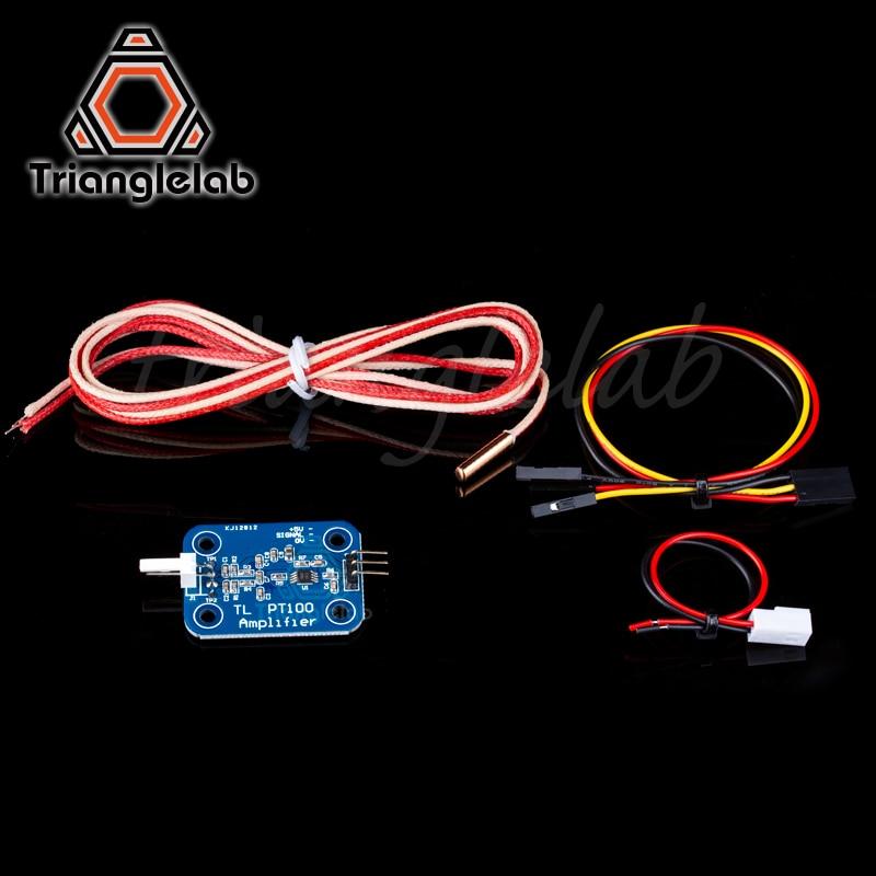 Hotend impressora Trianglelab 3D V6 PT100 sensor kit de atualização PT100 sensor de temperatura do painel de controle para E3D HOTEND bloco de aquecimento