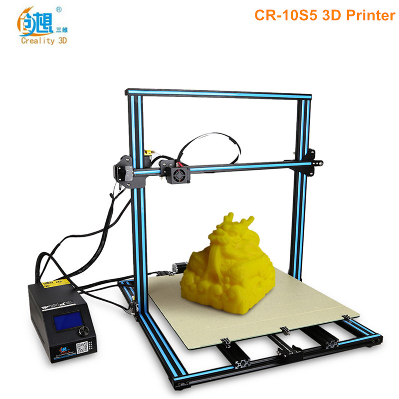 Creality3D CR-10S5 3D Printer Enlarged Version 500 x 500 x 500mm Large Printing Area DIY Kit Memory card offline print цена