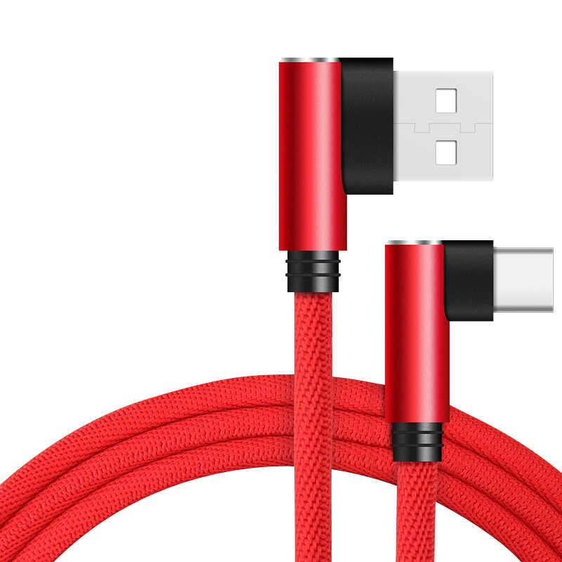 REZ 90 Gradi USB Tipo C Cavo Per Il Telefono di Ricarica Veloce Tipo di Dati-C Cavo Per Samsung S9 S8 xiaomi Mi8 MI6 Huawei Oneplus USB C