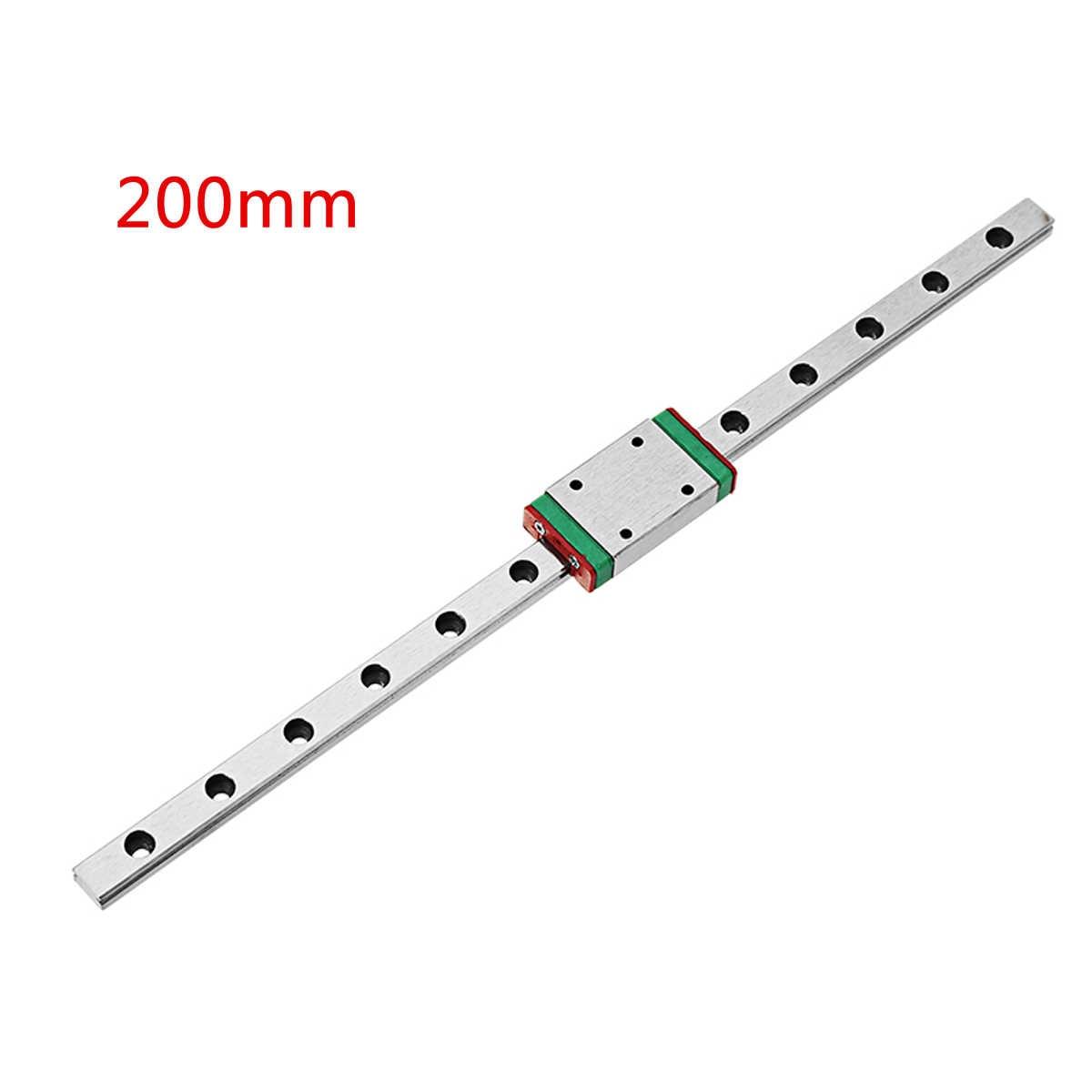"Suleve 1 יחידות 200 מ""מ אורך ינארית מדריך Rail עם MGN7H ליניארי רכבת בלוק תובלה חליפת עבור מחוון בלוק 3D מדפסת CNC חלקי"