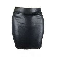 купить Sexy Skirt Women Faux Leather Pleated Lady Work Pencil Skirt Bodycon High Waist Mini Skirt по цене 213.63 рублей