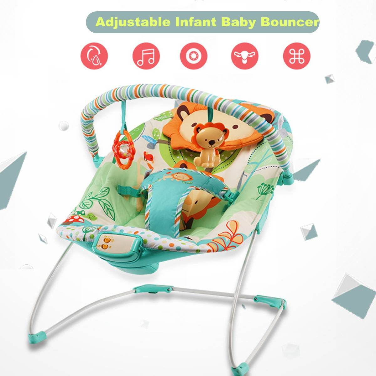 Multifunction Infant Baby Cradle Seat Electric Bouncer Swing Rocker Reclining Chair Toys Music Portable Toddlers Baby