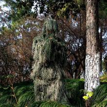3D 잎 위장 Ghillie 정장 야외 사냥 Birding 사진 촬영 의류 사냥꾼을위한 통기성 정글 옷