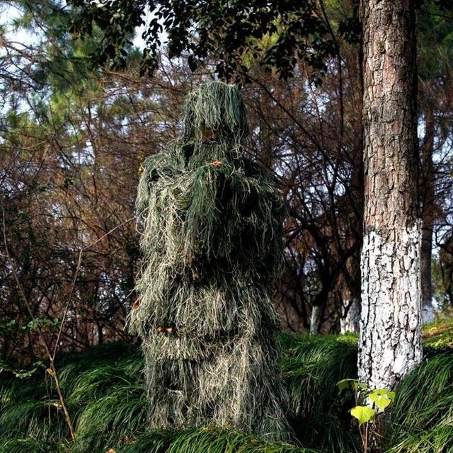 Ghillie mimetico foglia 3D Suit caccia allaperto Birding guardare fotografia abbigliamento traspirante abbigliamento giungla per cacciatore