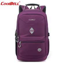 Cool Bell Men Women Portable Backpack Waterproof Male Large Travel Rucksack 18.4 for 17 inch Laptop Computer