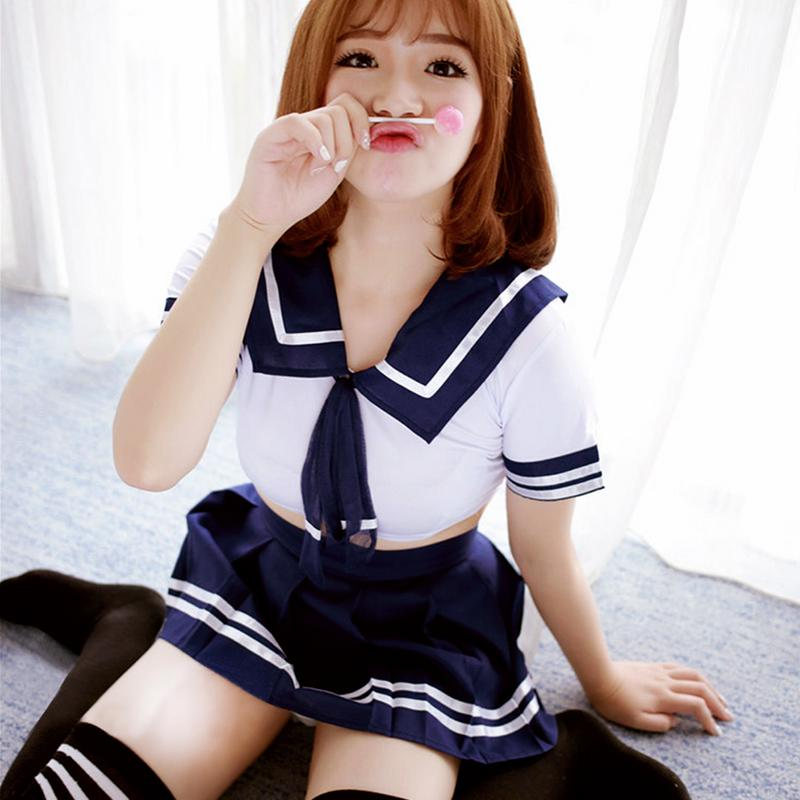 Sexy Schoolgirl Outfit Lingerie Uniform Temptation Student Wear Japanese Style Sexy Nightclub Anchor Theme Role Play Costume