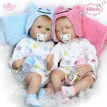 Logeo Baby Realistic Soft Silicone Reborn Dolls 25/55cm Lifelike Newborn Model Bebes lol toys